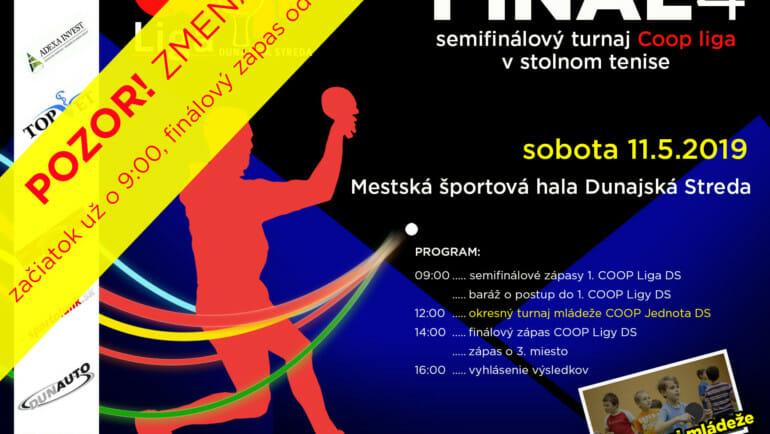 FINAL4 – semifinálový turnaj COOP liga